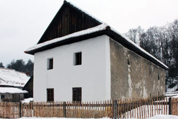 Obnovený dom Andreja Richtera vo Vyšehradnom, v ktorom sa zachovalo stredoveké vykurovanie.