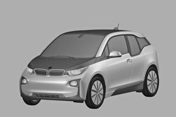 Kresba BMW i3 z patentovej prihlášky. Prvý sériový elektromobil automobilky BMW bude mať svetovú premiéru na frankfurtskom autosalóne.