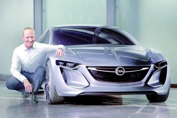 Štúdia Opel Monza Concept. Táto štúdia, ktorú Opel predstaví na autosalóne vo Frankfurte, naznačuje dizajn budúcich sériových modelov.