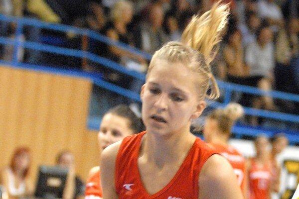 Eva Filičková. Slovenská reprezentantka do 18 rokov.