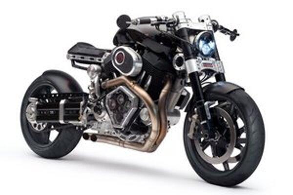 """Motocykel Confederate X132 Hellcat. """"Čarodejnicu"""" poháňa dvojvalcový vzduchom chladený motor s maximálnym výkonom 100 kW."""