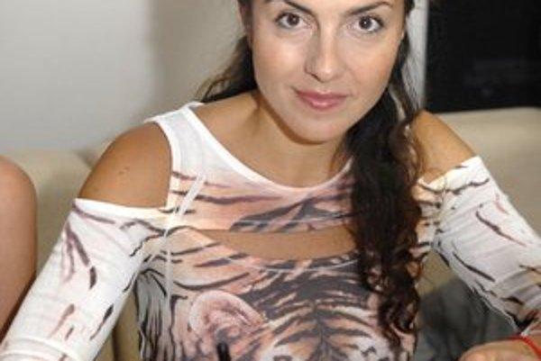 Herečka, spisovateľka a scenáristka Lucia Siposová.