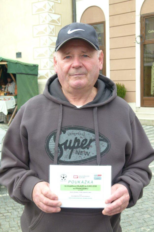 Tibor Demovič - víťaz tipovacej súťaže.