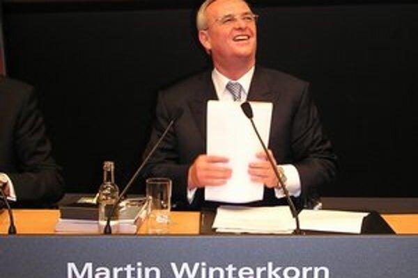 Martin Winterkorn, šéf koncernu Volkswagen. Je to najlepšie zarábajúci šéf nemeckého podniku.
