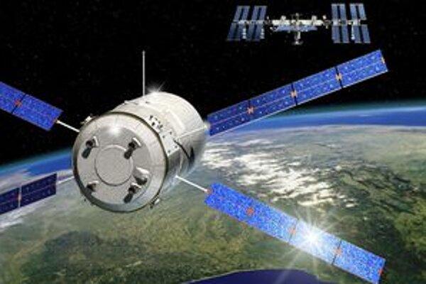 Nákladná loď Kepler. Kresba znázorňuje približovanie lode Kepler k medzinárodnej vesmírnej stanici ISS.