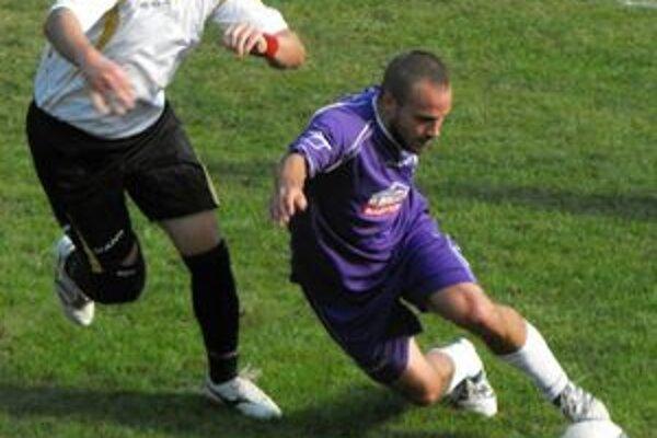 Dva góly. O dva góly sa v derby postaral Lukáš Drobňák.