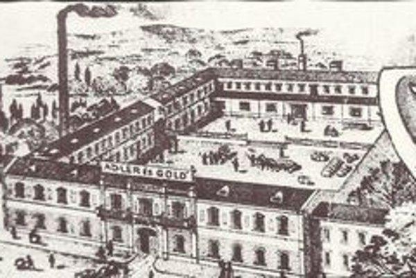 Prvá košická likérka. V priestoroch na začiatku Južnej triedy Adler a Gold (viditeľný je názov firmy) vyrábali povestný paprikový likér.