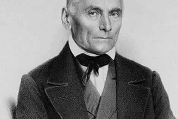 Jan Evagnelista Purkyně. Podtext: Purkyně bol všestranne činný učenec a je jedným zo zakladateľov cytológie.