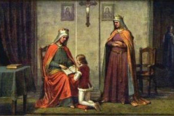 Kňažné. Ľudmila, Drahomíra a budúci vládca Václav.