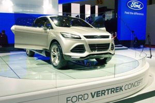 Koncepčný Ford Vertrek. Sériový model, odvodený od štúdie Vertrek, by mal byť náhradou za model Kuga.