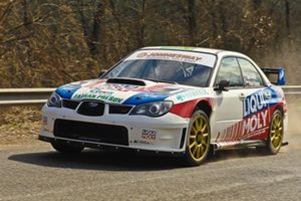 Subaru WRC. Novú techniku testoval Igor Drotár.