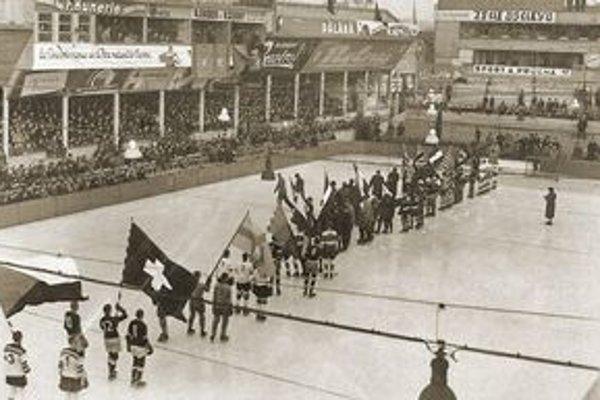 Pražská Štvanica. Počas slávnostného otvorenia majstrovstiev sveta v roku 1938.