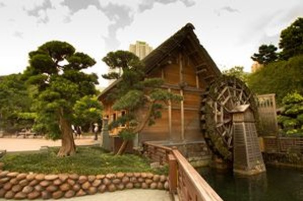 Nie, toto nie je výjav z rozprávky. Toto je časť parku Nan Lian Garden.