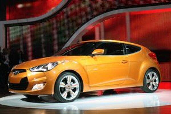 Kupé Hyundai Veloster. Veloster mal svetovú premiéru v Detroite, európsku v Ženeve.