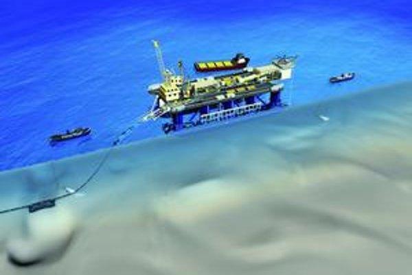Schéma ukladania potrubia. Potrubie plynovodu uložia na morské dno tri špeciálne lode.