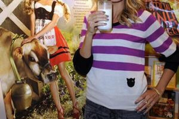 Heidi a mlieko.