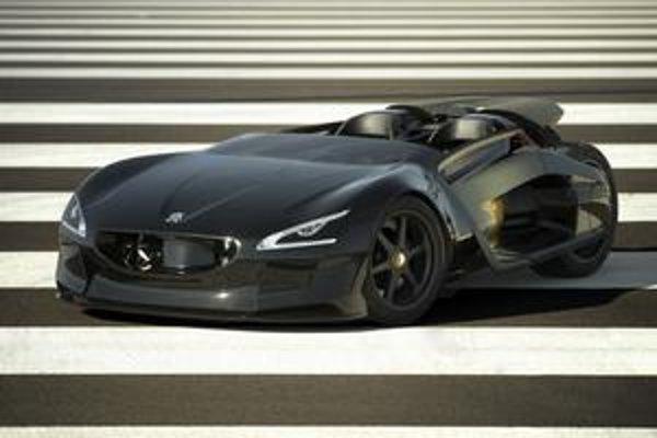 Štúdia Peugeot EX1. Na pohon štúdie slúžia dva elektromotory výkonu po 125 kW.