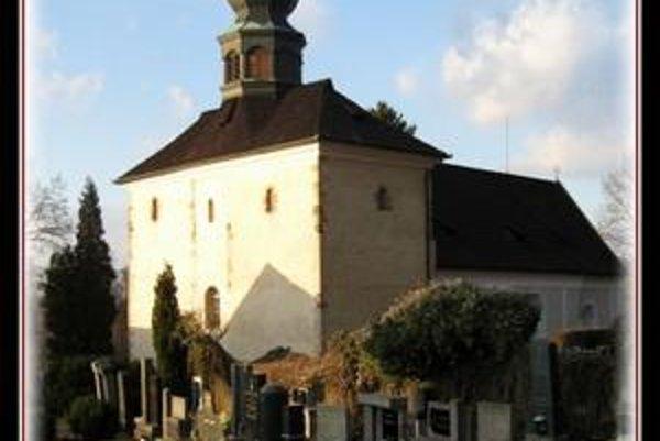 Kostol na Velíze. Zasvätili ho sv. Jánovi Krstiteľovi.