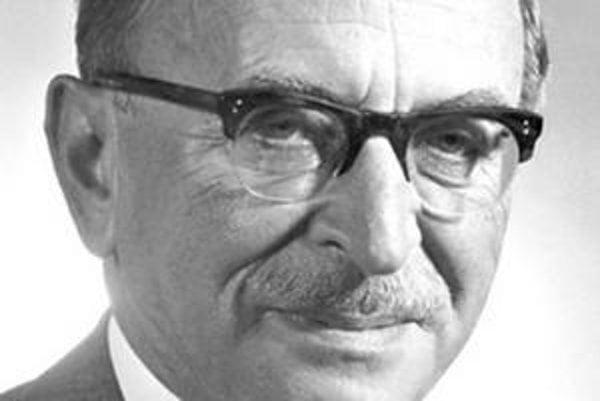 Dennis Gabor. Za objav princípov holografie dostal Nobelovu cenu za fyziku.