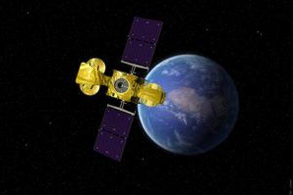 Kresba družice Hylas-1. Družica Hylas-1 bude poskytovať Európe kvalitný televízny signál a širokopásmové pripojenie na internet.