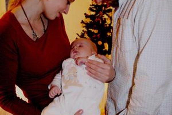 Trio. Prvé Vianoce oslávili už ako rodina.