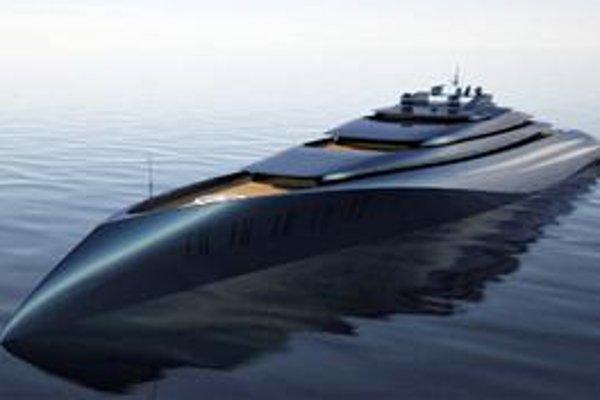 Kresba jachty Project 1000. Plánovaná megajachta bude svojou dĺžkou 200 metrov najväčšou jachtou na svete.