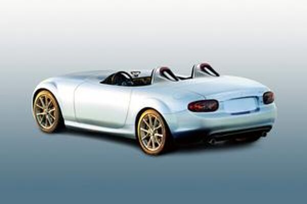 Superľahká koncepčná Mazda MX-5. Podtext: Vozidlo bolo vyvinuté pri príležitosti 20. výročia roadstera MX-5.
