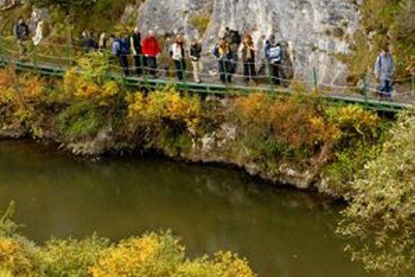 Prielom Hornádu. Obľúbené miesto turistov v Slovenskom raji.