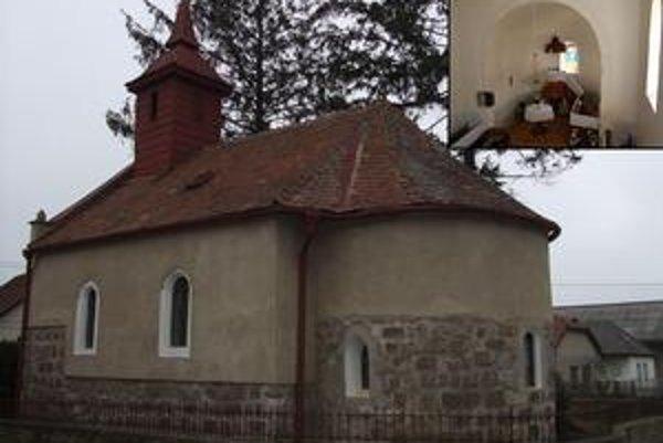 Kostol v Borši. Pohľad od juhovýchodu a interiér.