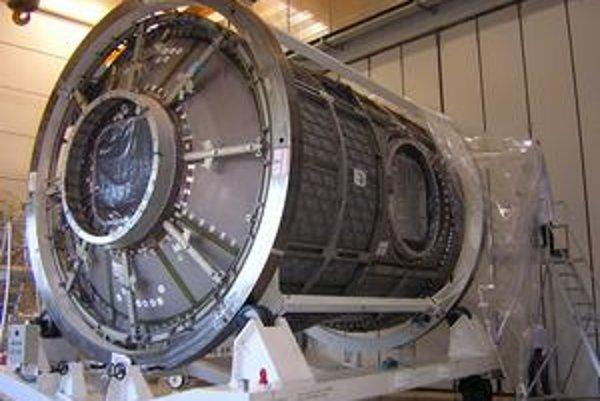 Nový európsky modul. Tento modul bude pripojený k medzinárodnej vesmírnej stanici.
