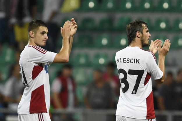 V odvete bude chcieť Trenčínu pomôcť aj Matúš Bero (vľavo), ktorý je už hráčom tureckého Trabzonsporu.
