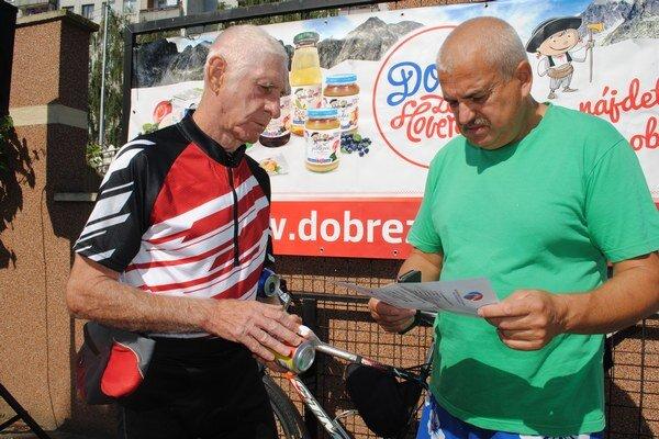 Pavol Šnirc (vľavo) a Milan Fabian. Humenčania boli najstaršou dvojicou.