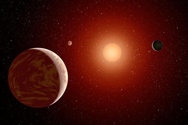 Planéty okolo malého červeného trpaslíka
