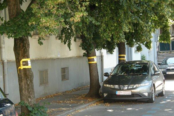 Upozornenia na padajúcu omietku sú aj na stromoch. Pošta ich žiada orezať.