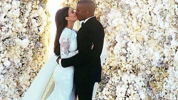 Kim Kardashian a jej manžel Kanye West.