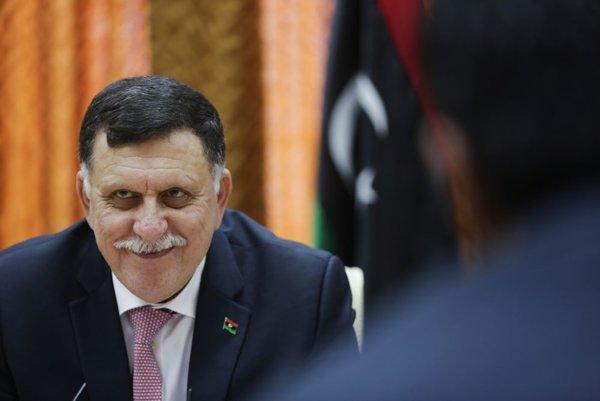 Premiér líbyjskej medzinárodne uznávanej vlády Fájiz Sarrádž.