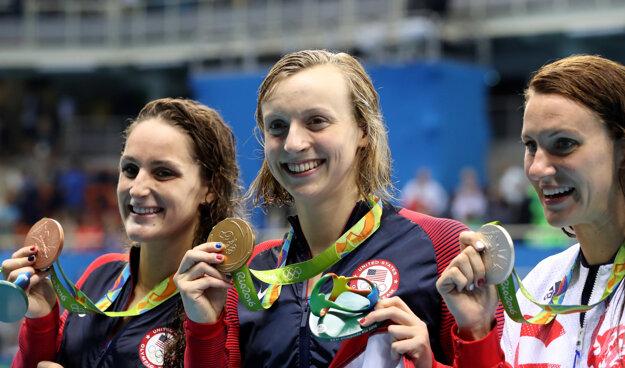 Katie Ledecky jednu zo svojich medailí vybojovala na 400 voľný spôsob.Tri doterajšie zlaté by rada ešte rozšírila.