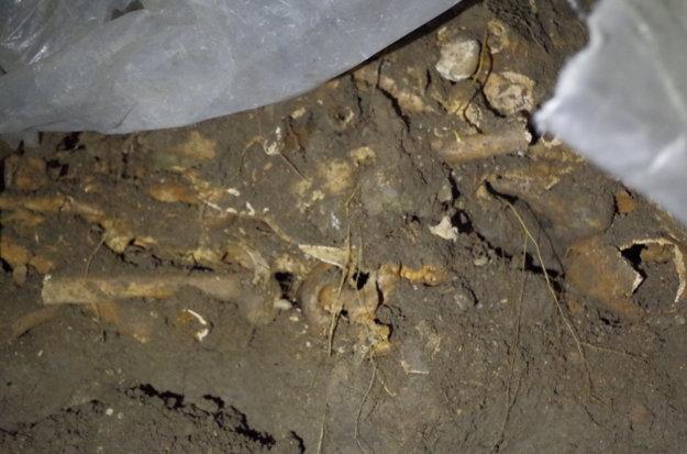 Počas rekonštrukcie kostolného múru našli robotníci ľudské kosti.