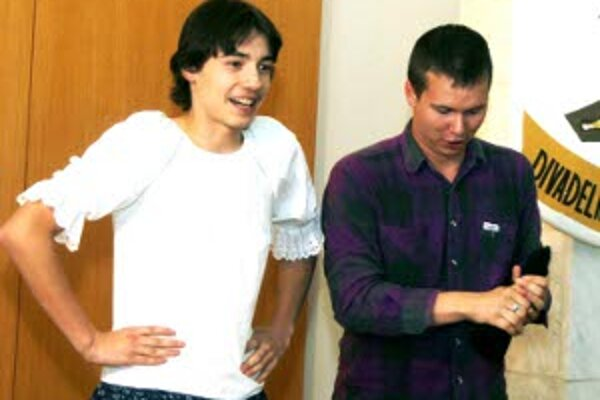 So zábavným predstavením prišla do Nitrianskeho Pravna aj dvojica mladých hercov zo Žiaru nad Hronom.