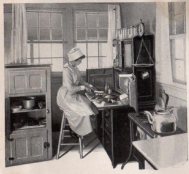 Ilustrácia z publikácie o efektívnom riadení domácnosti z roku 1912.