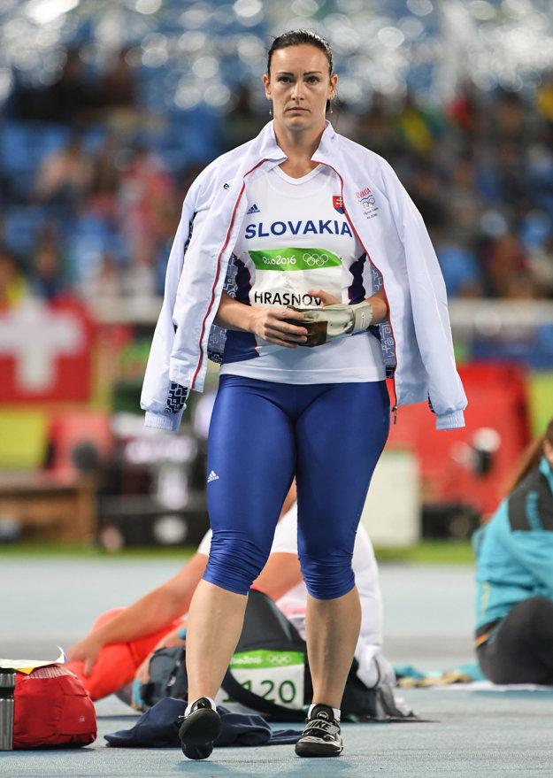Martina Hrašnová počas kvalifikácie.