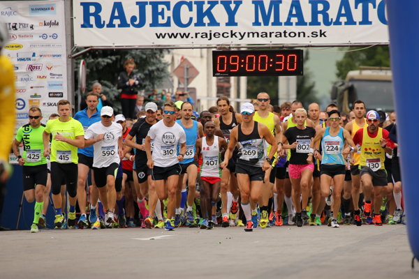 Štart Rajeckého maratónu 2016.