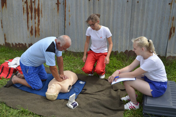 Vyskúšali si podanie prvej pomoci.