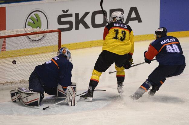 Brankár Miroslav Kopřiva so svojím výkonom nebol spokojný.