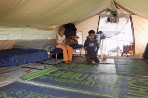 Prechodný domov sýrskych detí.
