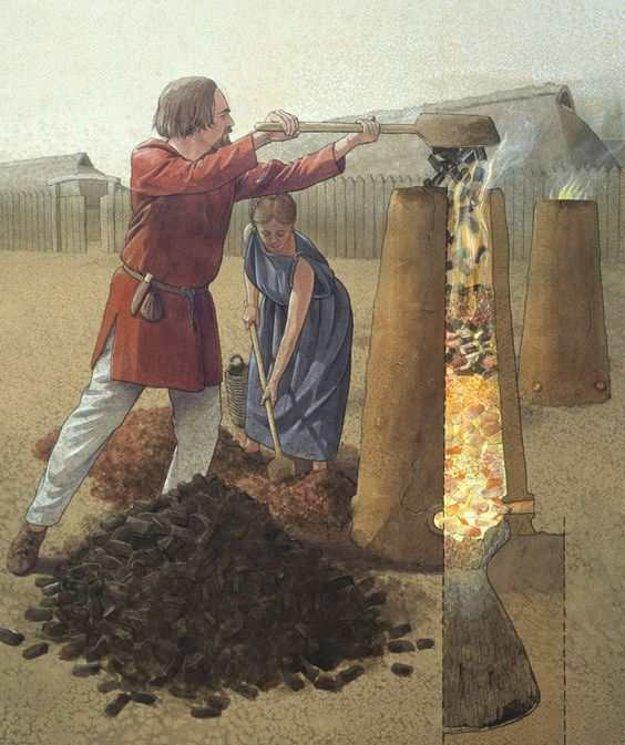 Takto fungovali piecky na železnú rudu.