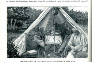 Reklama na kempovanie vo Francúzsku, z časopisu La Science et La Vie.