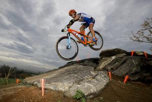 Peter Sagan na horskom bicykli.