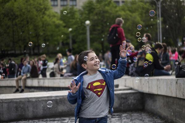 Bubble day, obľúbená rodinná akcia sa bude opäť konať na prievidzskom námestí.
