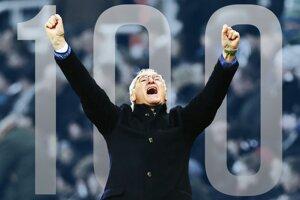 Ranieri oslávil sté víťazstvo.